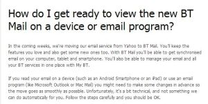 Setting up new BT Mail