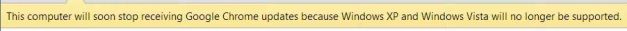 Chrome support ending on Vista