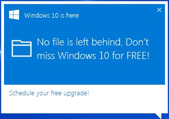 Windows 10 enforced upgrade